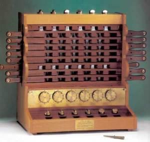 Schikard rekonstruált gépe