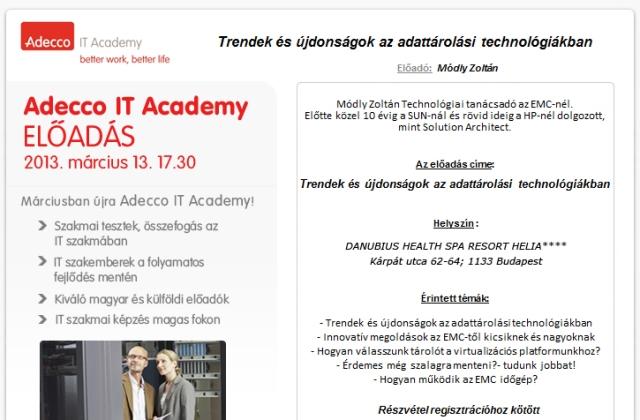 Adecco IT Academy - 2013 március